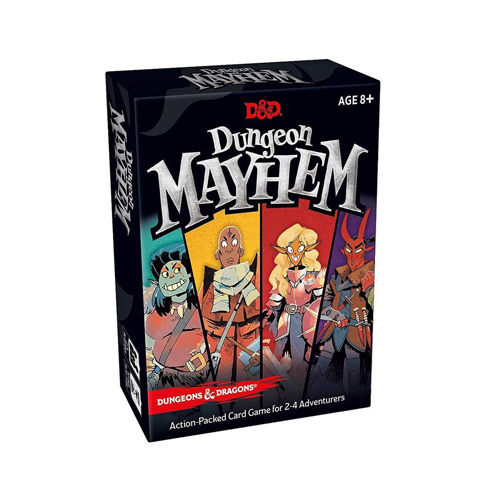 120PCS English Card Game  For Dungeon Mayhemings Dragons Funny Game For Party Family 2-4 Players
