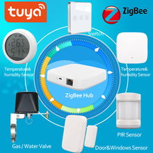 Tuya Zigbee Alarm Kit Smart Home PIR Sensor Door Sensor Temperature&Humidity Sensor Home Automation Scene Security Smartlife
