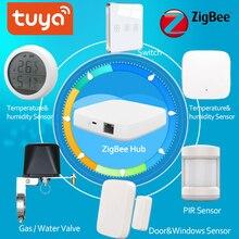 Zestaw alarmowy Tuya Zigbee inteligentny czujnik PIR czujnik drzwi czujnik temperatury i wilgotności automatyka domowa scena bezpieczeństwo Smartlife