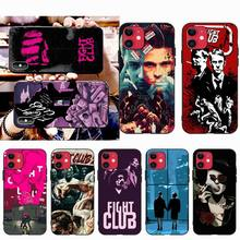 CUTEWANAN Fight Club Black Soft Shell Phone Case Capa for iPhone 11 pro XS MAX 8 7 6 6S Plus X 5S SE XR case cutewanan item triathlon ironman black soft shell phone case capa for iphone 11 pro xs max 8 7 6 6s plus x 5s se 2020 xr case