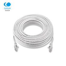 Rede impermeável exterior do remendo rj45 do cabo dos ethernet cat5 fios do cabo lan para o sistema da câmera do ip do cctv