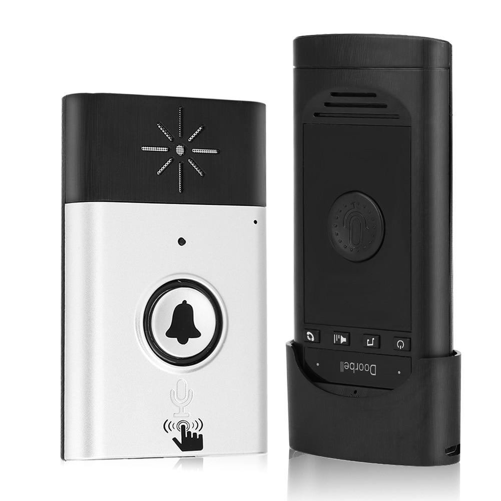 Voice Intercom Doorbells Wireless Two-Way Talk Home Doorbell Intercom Kit Outdoor Walkie Talkie With USB Interface Cable