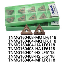 DESKAR TNMG160404-HA TNMG160404-HS TNMG160404-MF TNMG160404-MQ TNMG160408 HS HA MF MQ LF6118 Carbide inserts For Stainless steel(China)