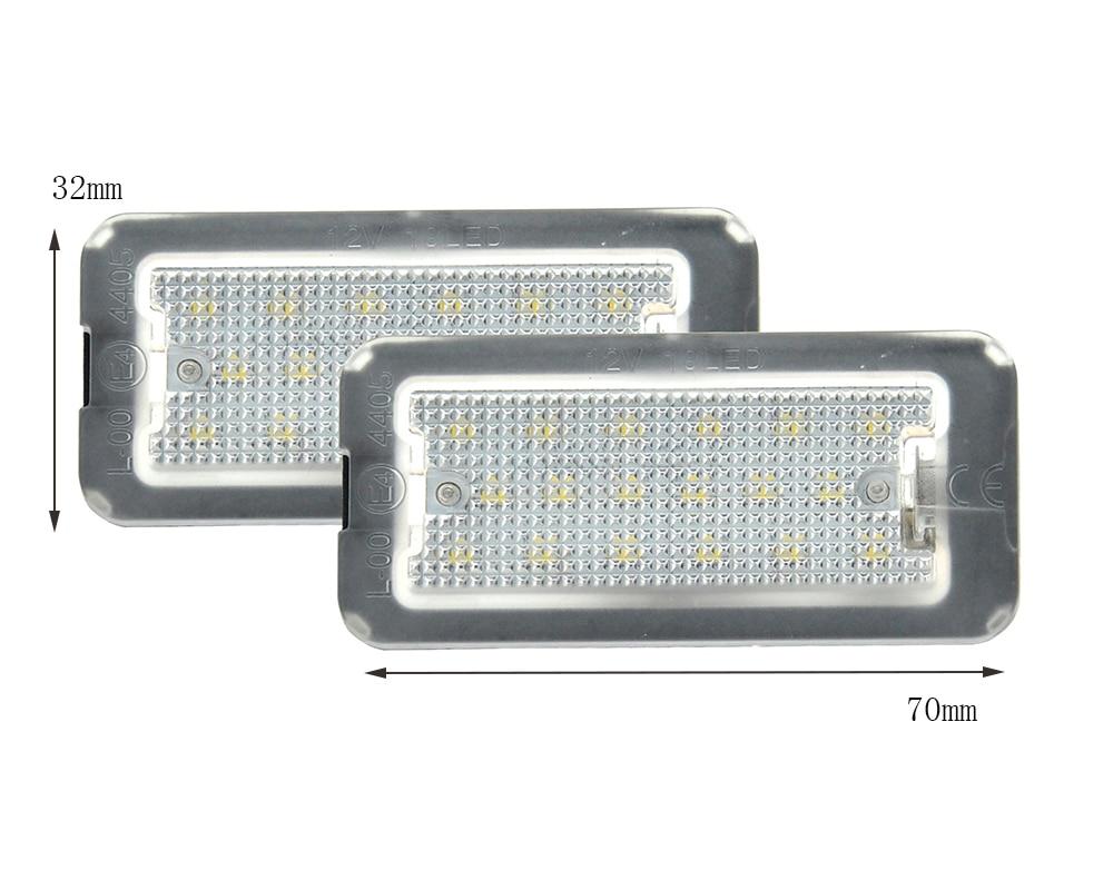 Error Free Bright White LED Number License Plate lights Lamp for Fiat 500 500C