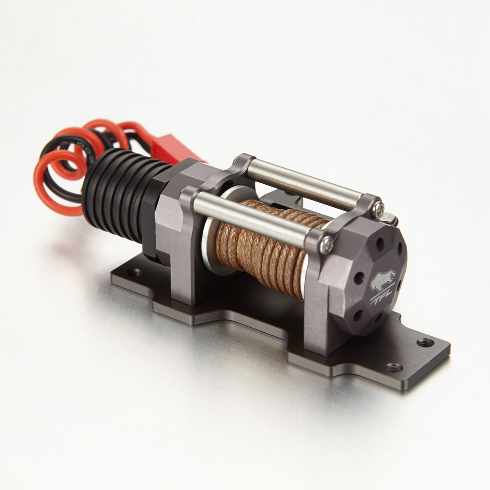 Full Metal Scale 1/10 Emulation Electric Winch With Single Motor For TFL RC Rock Crawler Truck