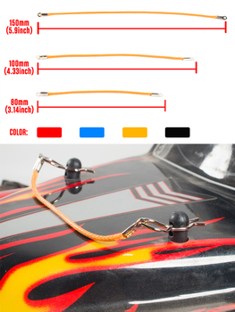 50Pcs 30Pcs RC Car Body Clips R Pins Rope for 1/10 1/8 Crawler Axial SCX10 Traxxas Tamiya RC4WD HSP HPI RC Model Car