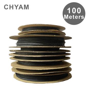 100 metrów 2 1 rura termokurczliwa z poliolefinu rury rurki termokurczliwe izolacyjne rękaw kablowy termokurczliwy czarny średnica 5 6 7 8 10 11 12mm tanie i dobre opinie CHYAM NONE CN (pochodzenie) Black diameter 5 6 7 8 10 11 12mm