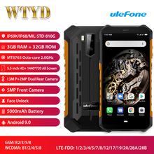 Ulefone Armor X5 IP68 Waterproof LTE 4G Smartphone 5.5 3GB+32GB 5000mAh OTG NFC Face ID Global Bands Android 9.0 Smartphone
