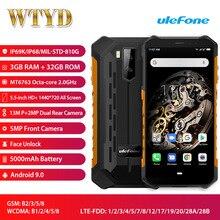 Ulefone שריון X5 IP68 עמיד למים LTE 4G Smartphone 5.5 3 GB + 32GB 5000mAh OTG NFC פנים מזהה הגלובלי להקות אנדרואיד 9.0 Smartphone