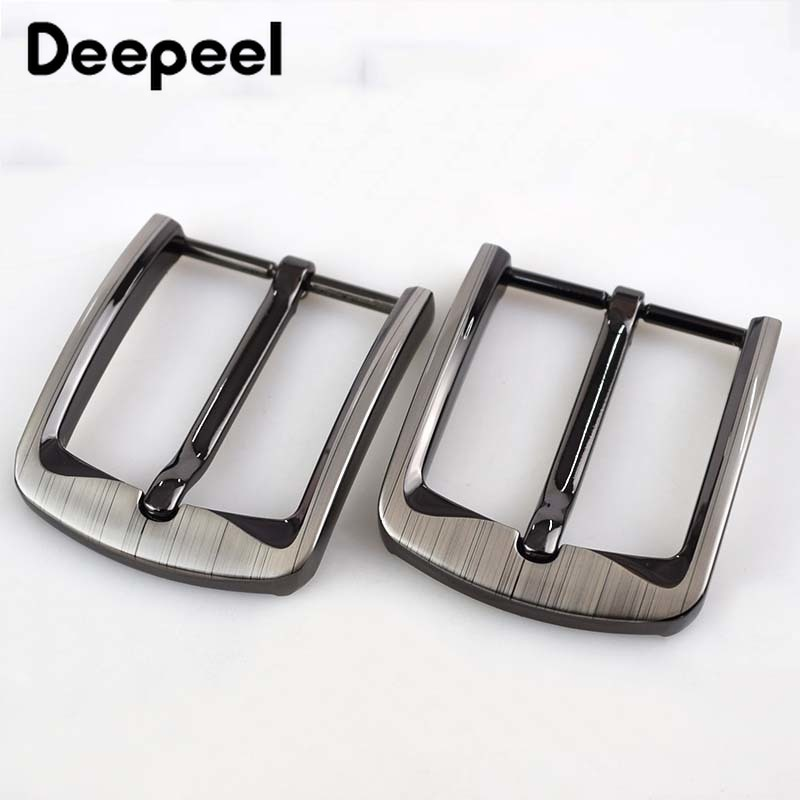 Deepeel 2/5pcs 40MM Solid Brushed Metal Belt Buckle Mens Women Buckles For 38-39mm New Leather Craft Jeans Waist Accessory ZK897