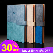 Business Notepad Creative Stitching Loose-leaf Advanced Leather Book Stationery A5 Notebook Work Glosen 8272 Three Colors retro pirate leather metal pendant loose leaf 80 sheets notebooks creative navigation style business gift notepad daily memos