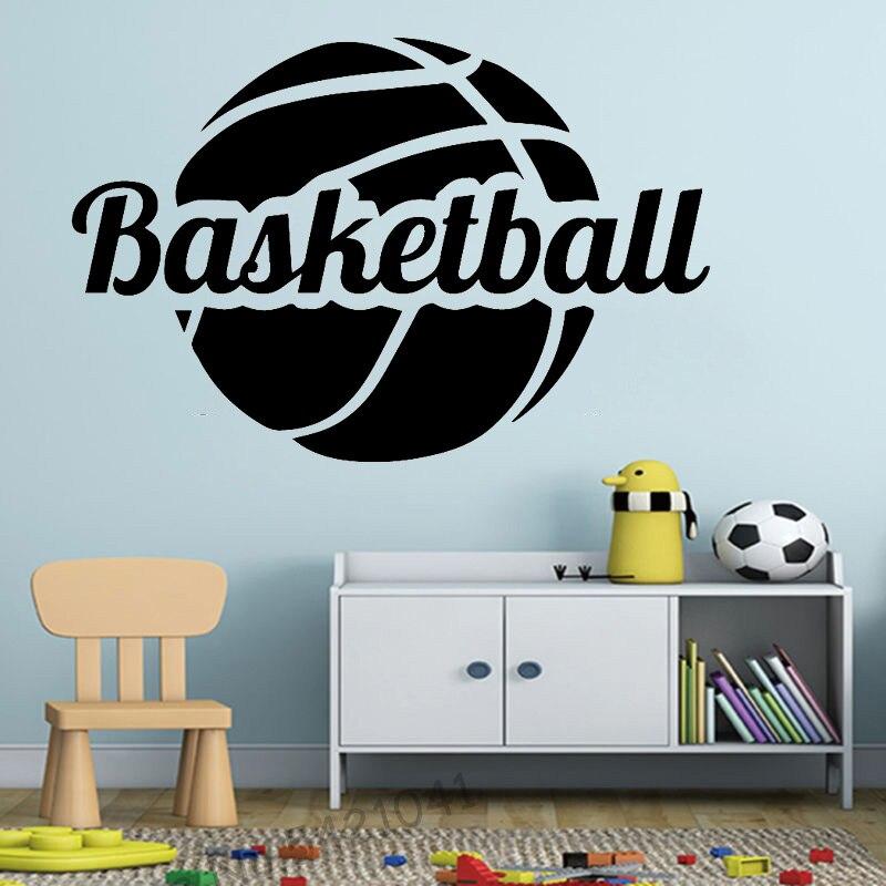 Баскетбольная Наклейка на стену для детской спальни в помещении стадиона забавные аксессуары Adesivo де Parede домашний декор обоев