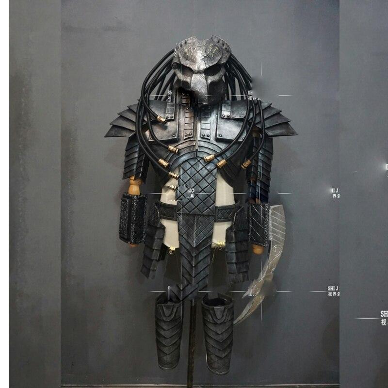 Jagged Warrior Armor Cosplay Bar Halloween Party Costume Halloween Alien Predator Costume