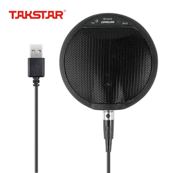 TAKSTAR BM-630USB Boundary Condenser Microphone Drive Free Plug and Play Use for Network Live Broadcast Conference Vocal Chat