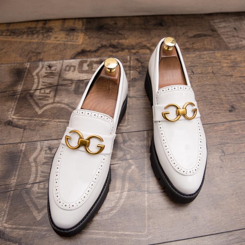 Dress Shoes Leather Oxford Shoe Luxury Wedding Shoes Men Flats Party Shoes