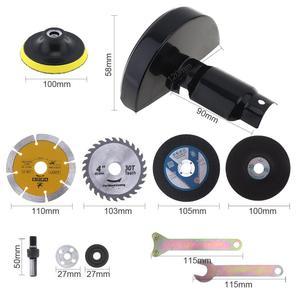 Image 3 - 17 pièces/ensemble 13mm perceuse électrique coupe siège outil de Conversion accessoires pour meulage/coupe carrelage/métal polissage