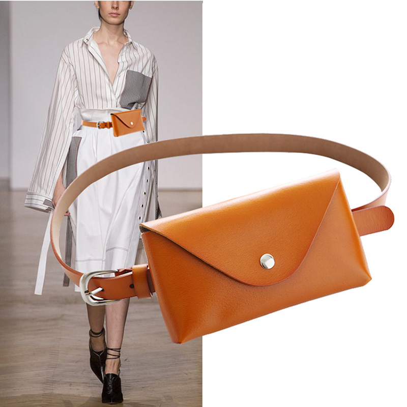 Waist Bag Ladies Fashion Genuine Leather Women Waist Belt Bags Waterproof Chest Belly Pouch Woman Fanny Pack Luxury Coin Purse
