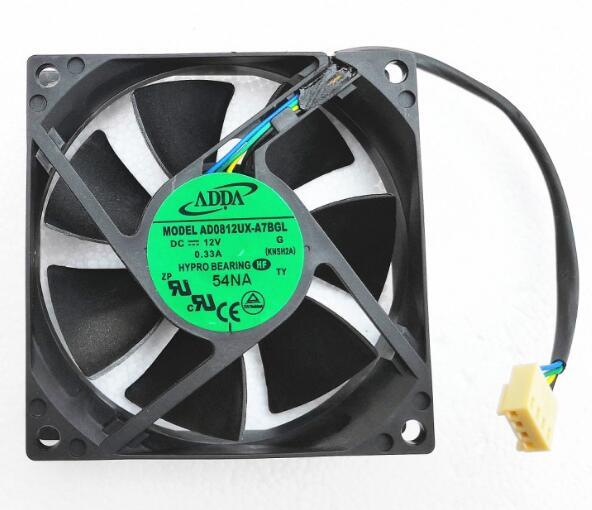 New Original Taiwan ADDAi AD0812UX-A7BGL8025 12V 0.33A 4 Line Temperature-controlled Radiation Fan