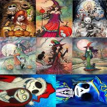 5D DIY Full Drill Diamond Painting Halloween Cross Stitch Embroidery Kit supply