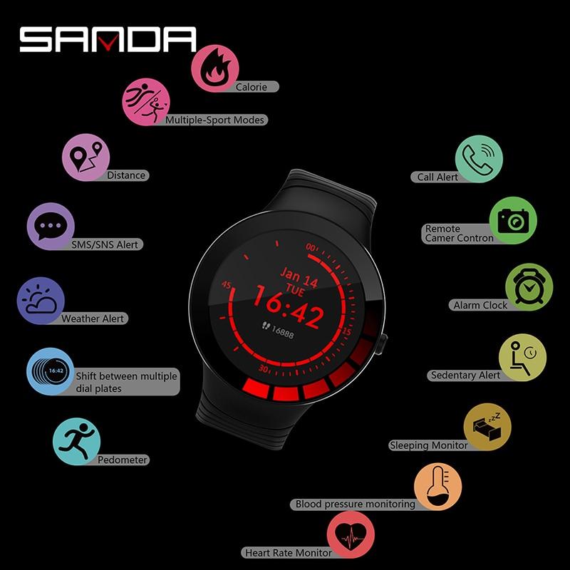 Bluetooth montre intelligente hommes haut marque fréquence cardiaque et moniteur de pression artérielle Smartwatch Message rappeler alerte météo montre numérique