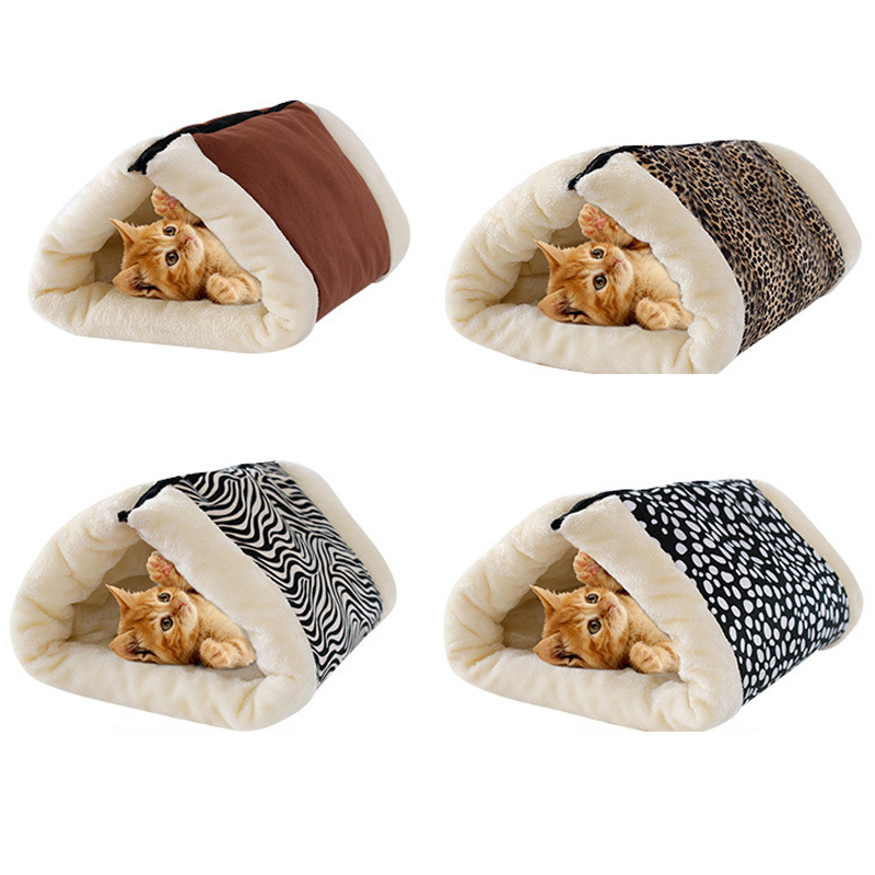 Petshy Plush Pet Tunnel Nest Dog Cat Bed House Toy Tent Cave Puppy Cats Floor Pad Cushion Small Dog Cat Sofa Loungers Pet Kennel
