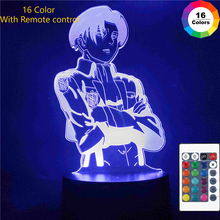 Figures Night-Light-Lamp Titan-Toy Attack Hot-Japanese-Anime Levi Graphic Bedroom 3D