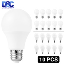 10 pièces/lot E27 E14 LED ampoule lampes 3W 6W 9W 12W 15W 18W 20W Lampada lumière LED ampoule AC 220 V-240 V Bombilla spot blanc froid/chaud(China)