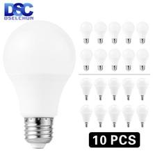 Bombilla LED E27 E14 bombillas LED para lámpara, 3W, 6W, 9W, 12W, 15W, 18W, 20W, CA, 220V-240V, blanco frío/cálido, 10 unidades/lote