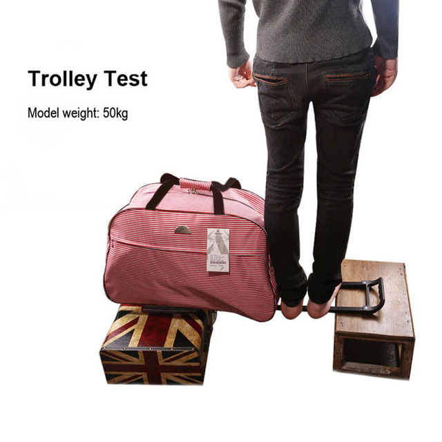 JULY'S SONG Luggage Bag Travel Duffle Trolley bag Rolling Suitcase Trolley Women Men Travel Bags  With Wheel Carry-On bag 5