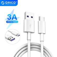 ORICO – câble USB 3A de Type C pour recharge rapide, cordon de chargeur pour téléphone portable, compatible avec Huawei P30 Mate 20 Pro Xiaomi Mi 9 HTC Macbook LG G5