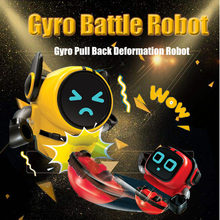 Deformation Robots Gyro Pull Back Toys Detachable Removable Gameplay Top 3-Modes Wind-up Car Launching Mode Educational Toy(China)