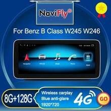 Neue Ankunft 8GB + 128GB Carplay DSP Android Auto Multimedia-Player GPS Für Mrcedes Benz B Klasse W245 w246 B180 B200 B220 B250 B260