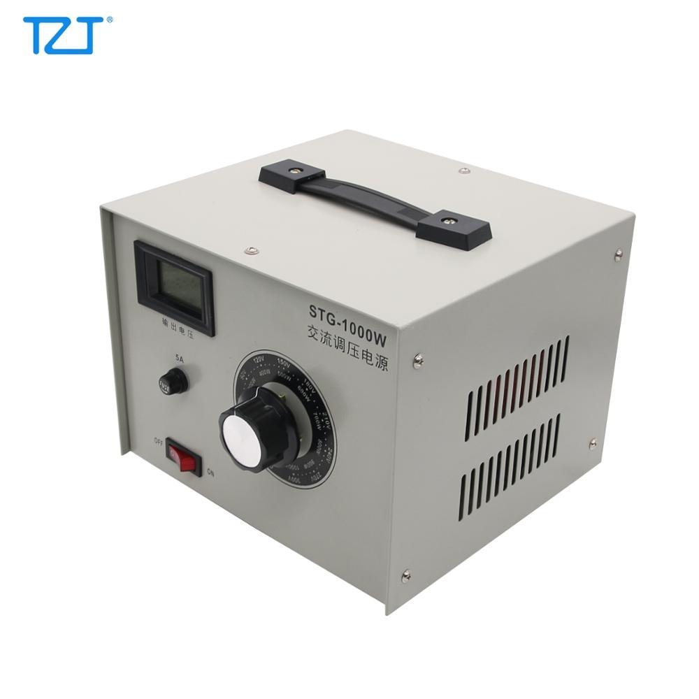 Regulador de voltagem autotransformador variac, tzt STG-1000W 220v ac powerstato 0-300v saída