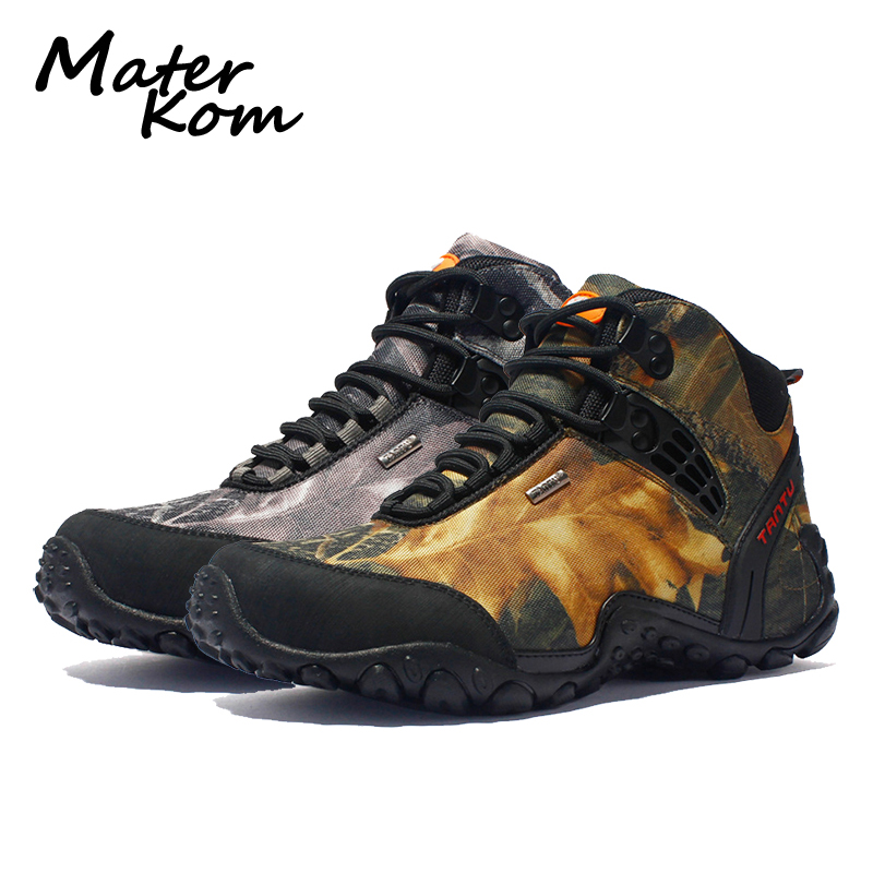Professional Outdoor Hiking Shoes Men Leather Waterproof Trekking Mountain Boots Tactical Boots Woodland Hunting botas militar