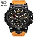Часы SMAEL мужские  армейские  спортивные  кварцевые  аналоговые  светодиодные  цифровые  водонепроницаемые  с двойным дисплеем