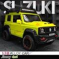 1:18 Suzuki Jimny 4x4 литья под давлением, брелок для автомобильных ключей, 1/24 металлический SUV внедорожный автомобиль модель для модель тянуть обрат...