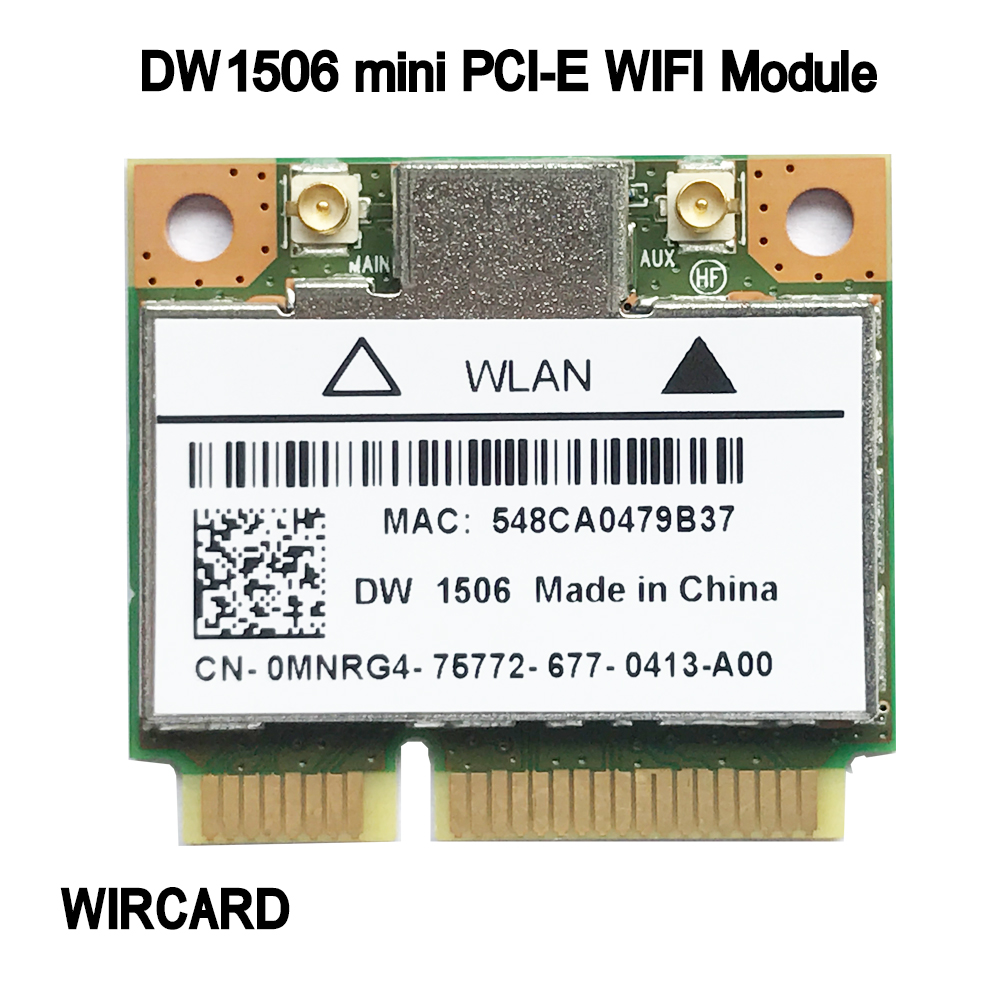 WIRCARD DW1506 AR5B125 Mini PCI-E WiFi Card 802.11b/g/n WiFi Module For Dell Laptop