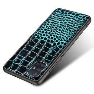Image 5 - تمساح حقيقي حقيبة جلدية لسامسونج غالاكسي A51 A71 A10S A20S S20 S10 زائد A50 A70 A81 A91 A21 A01 أفضل حماية حالة