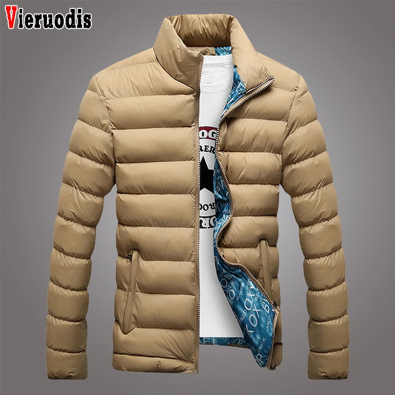 Male Parka Jacket Mens Solid Thick Jackets And Coats Winter 2019 Fashion Stand Collar Men Jacket Man Leisure Winter Parkas M-6XL