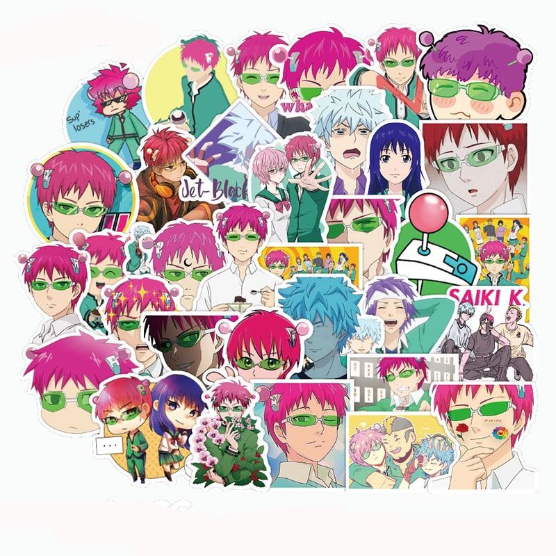 10/30/50 Pcs Saiki Kusuo Stickers Japanese Anime Sticker For Decal On Guitar Suitcase Laptop Phone Fridge Motorcycle Car