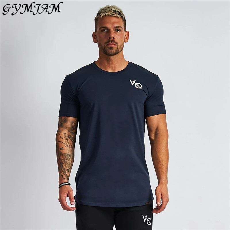 Casual Streetwear Brand Men's T-shirt 2019 Summer Fashion Short-sleeved Shirt Jogger Fitness Sportswear Fashion Men's Clothing