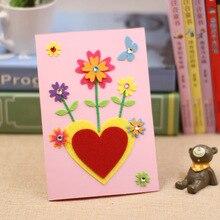 Kids DIY Felt Educational Toys Sticker Craft Gifts Creative Cartoon Non-Woven Cute Greeting-Card