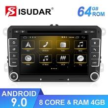 Isudar Android Car Multimedia player GPS 2 Din Autoradio For Seat/ Leon/Altea/Toledo/VW/Golf/Skoda Radio CANBUS DVR Camera DVD