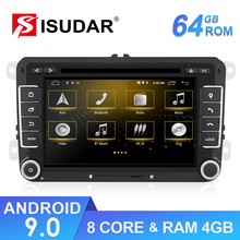 Isudar Radio Multimedia con GPS para coche, Radio con reproductor, Android, 2 Din, DVD, para Seat/ Leon/Altea/Toledo/VW/Golf/Skoda