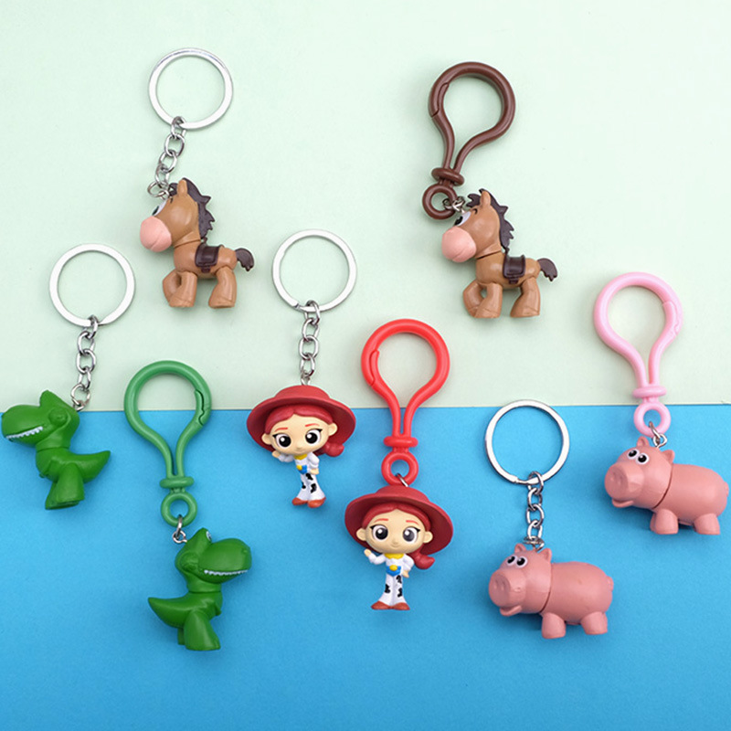 4pcs//set Toy Story 4 Woody Buzz Lightyear Keychain Figure Keyring Toys Gift