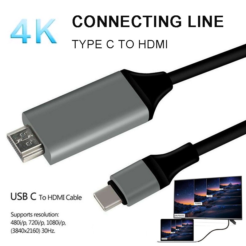 Suitable For MacBook Pro Type-C to HDMI Converter Cable Compatible for Android Mobile Smart Cell Phone Data Cables Accessories