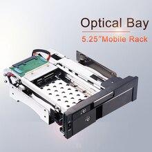 Uneatop Optical Bayอลูมิเนียม 2.5 + 3.5in Multi Function SATAภายในHot Swap HDD Rackสำหรับถาดคู่ น้อยกว่าEnclosure