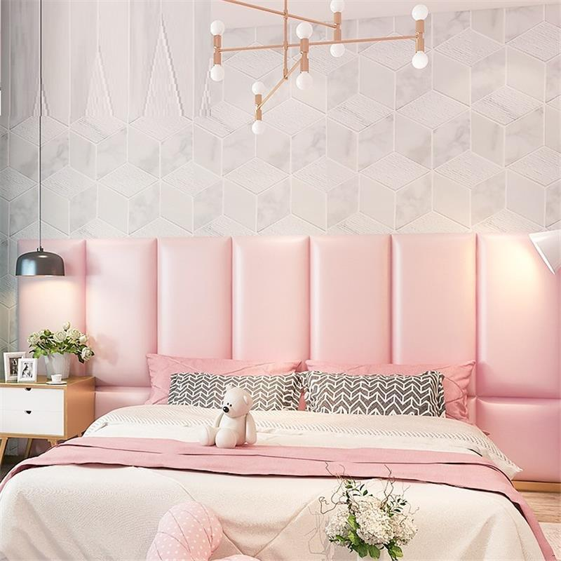 Headboard Testata Letto Bedroom Cabecera Cabezal Children 3D Wall Sticker Bed Cabecero Cama Pared Tete De Lit Head Board