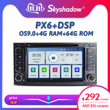 DSP IPS PX6 Android 9.0 6 Core 4G + 64G Voiture Lecteur DVD GPS Carte Radio Bluetooth Pour VW Touareg T5 Multivan Transporteur 2004-2011(China)