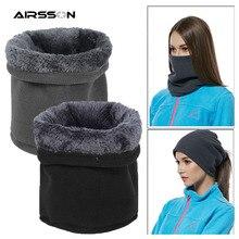 Теплый флисовый шарф, маска для лица, Зимняя Теплая повязка на голову, шапка для велоспорта, мотоцикла, сноуборда, катания на лыжах, пеших прогулок, для мужчин и женщин, 3 в 1